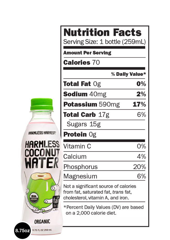 Image - Nutritional information for 8.752oz bottle