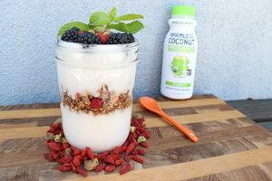 Coconut Blackberry Yogurt Parfait