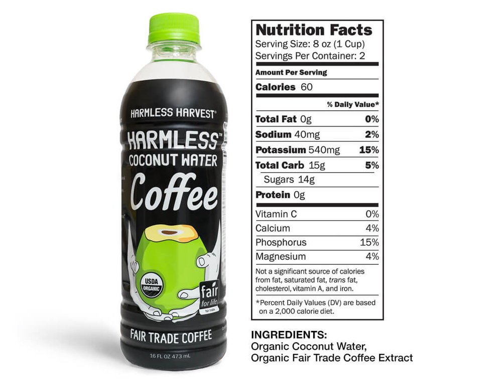 coffee coconut water nutrition facts