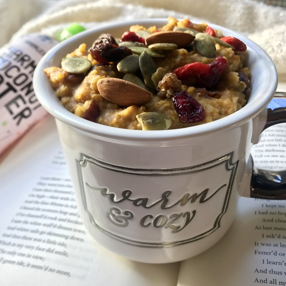 Warm and Cozy Pumpkin Spice Oatmeal