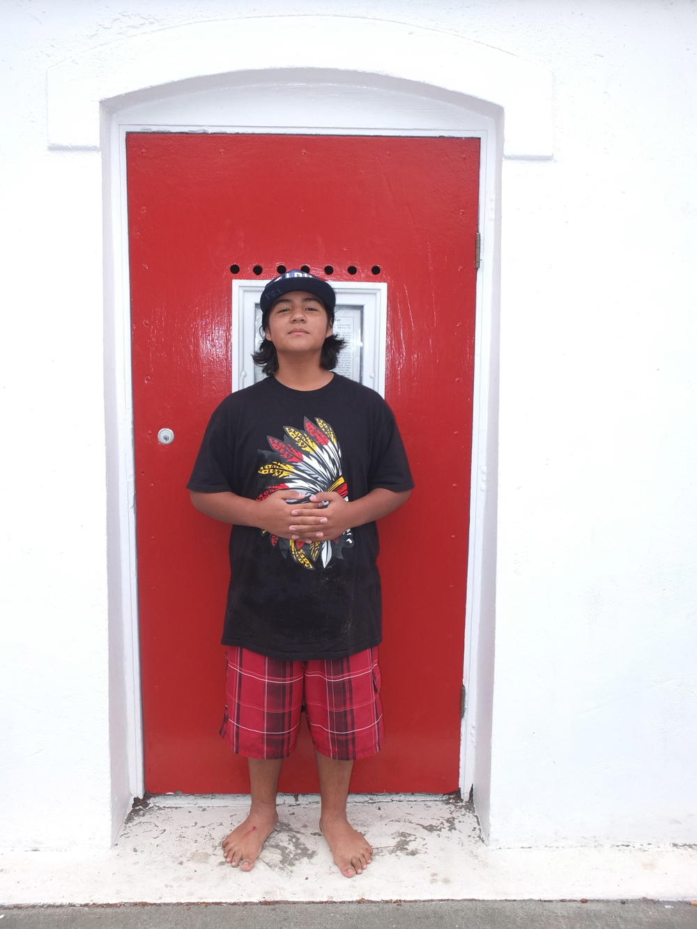 13- year old Young Native scholar and intertribal youth leader, timothy siva (cahuilla) at the door of opportunity.