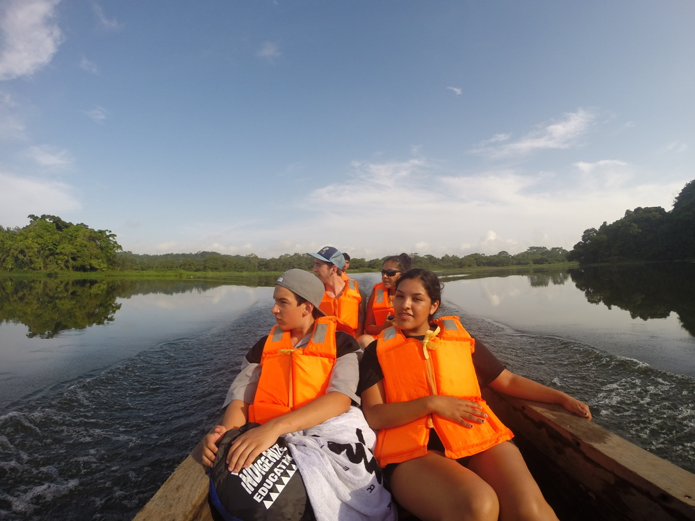 from California to Panama. John Tuff Turner, luiseno of Rincon Reservation joins Erin Lachappa of the Sycuan Kumeyaay Nation as they visit Embera Quera nation on the Panama Canal Waterways.