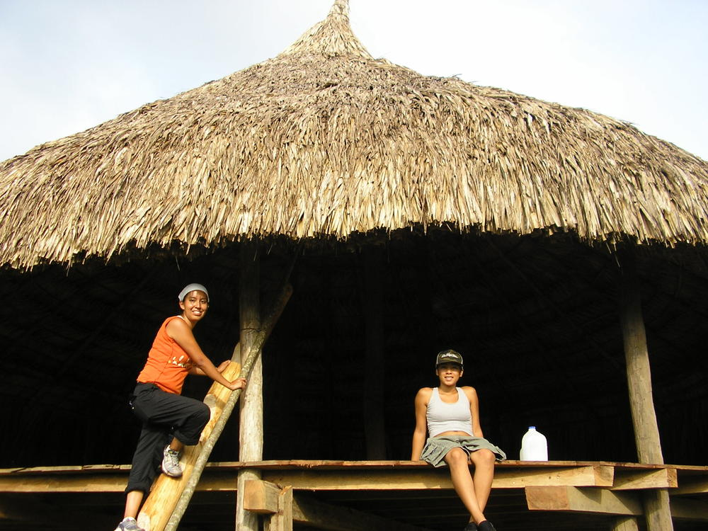 At Embera Nation with April and Tatiana Representing the Dine, Navajo, acjachemen and polynesian peoples #cultureexchange