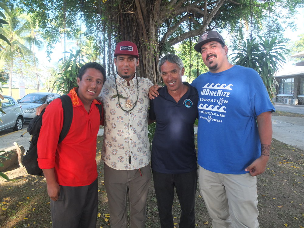 2017 with Nainoa Thompson, Hokulea Captain, Olo, Manny, Marc
