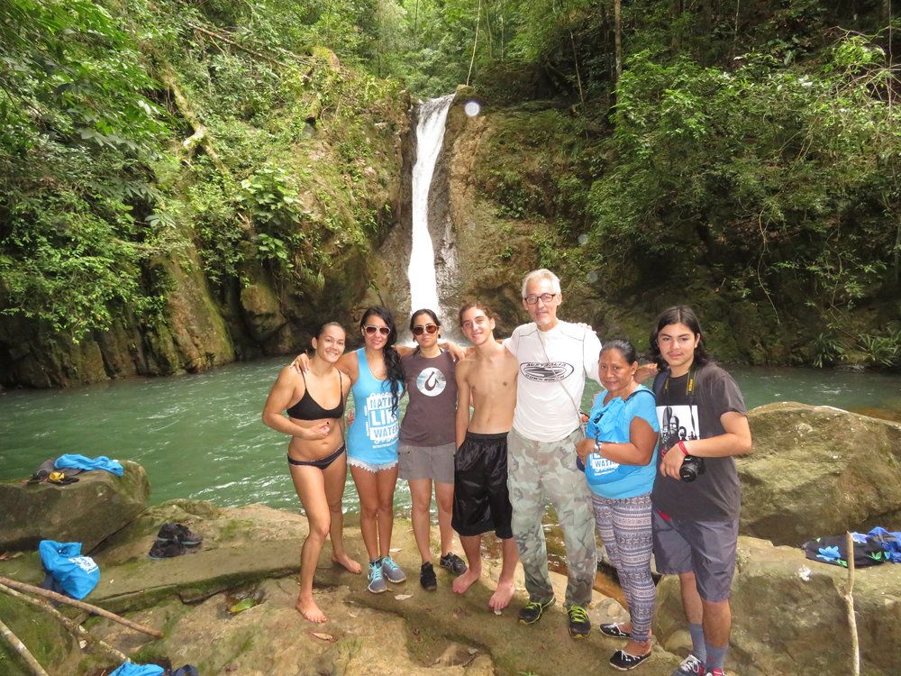On the medicine trail with many waterfalls in Chagres National Park and Cerro Azul. 2017 Group from California, Hawaii, florida
