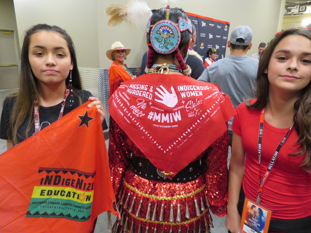 June 2018 Victory Fight dedicated to missing and murdered indigenous women, #MMIW. Scholarship provides young females a fighting chance to suceed