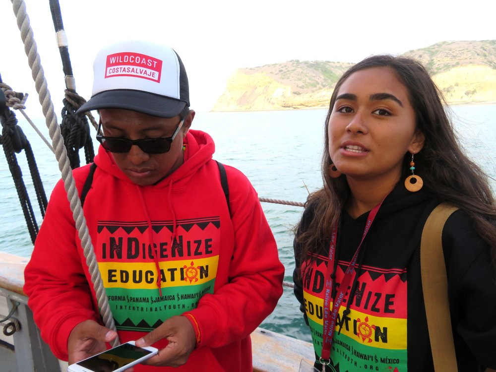 2018 Nigani SCholarship Awardee, Hali'a Locke-Nacimento at the San Diego REsidential Academy
