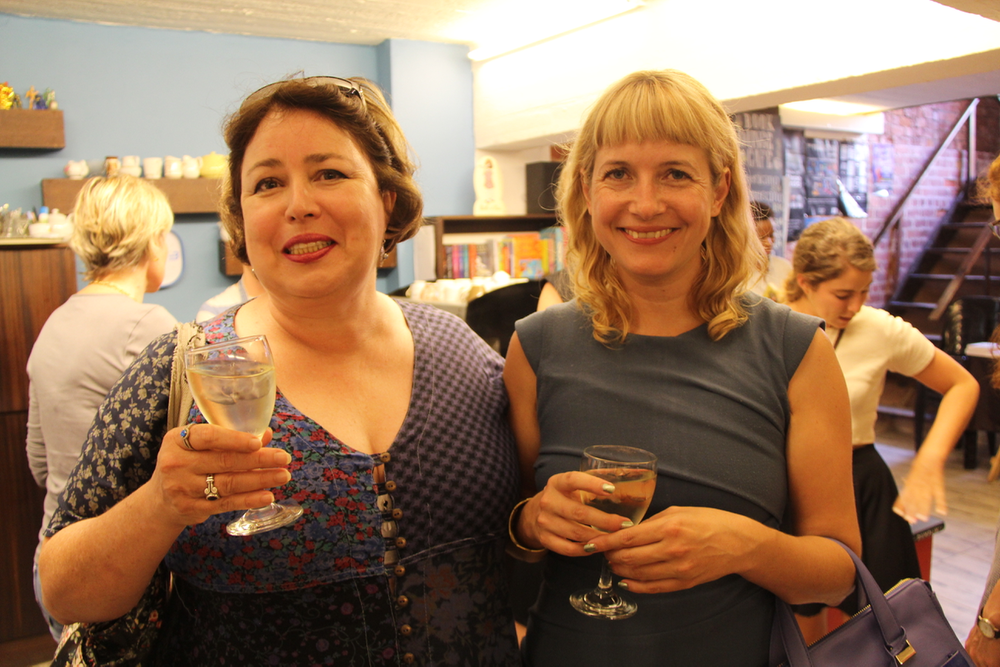 Stations' editor Helen Moffett, and Lauren Beukes