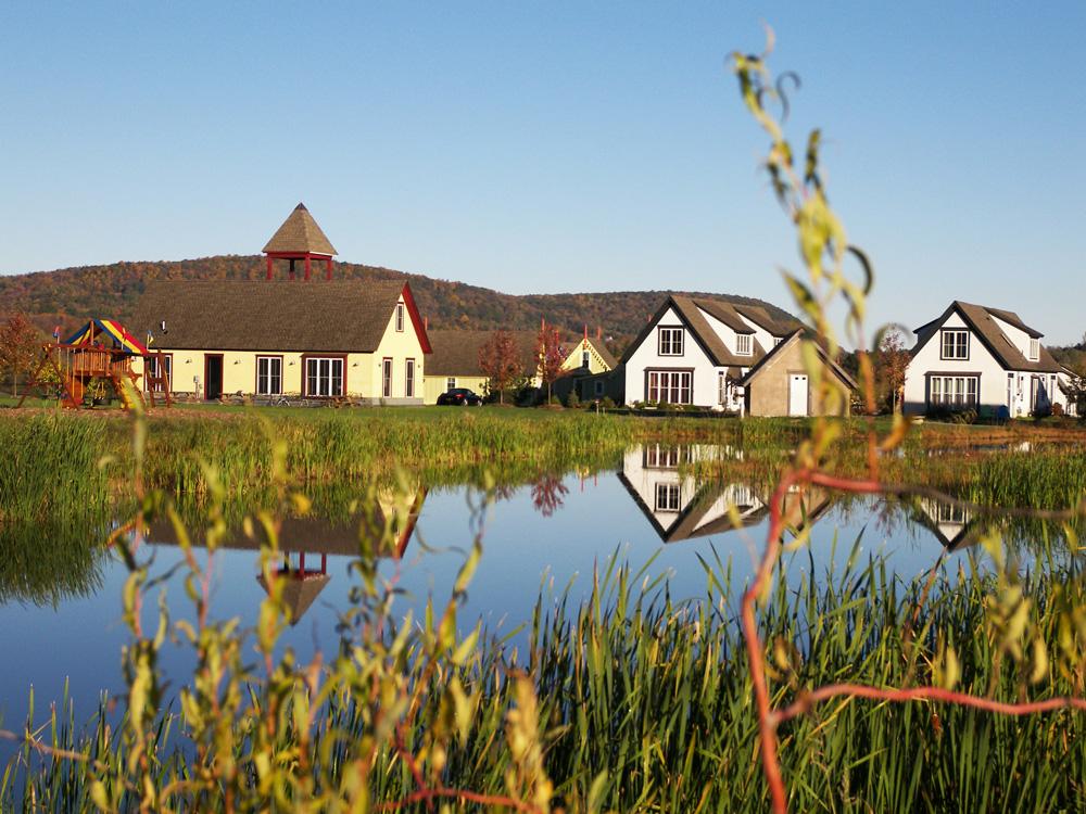 Over the pond at Boiceville Cottages