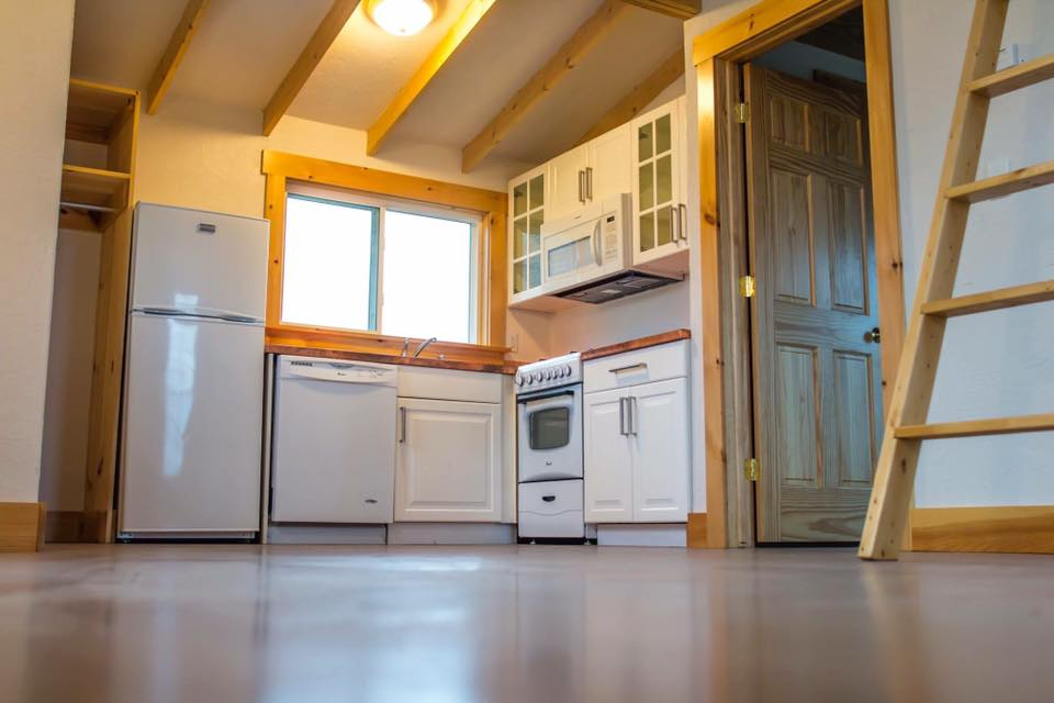 kitchen tiny house 1 bedroom loft