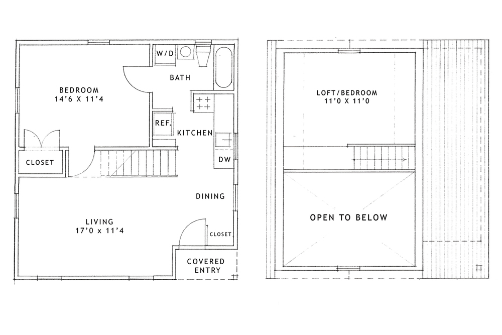 Boiceville One Bedroom Ithaca Floor Plan. 1 Bedroom   Loft Apartment Boiceville Cottages