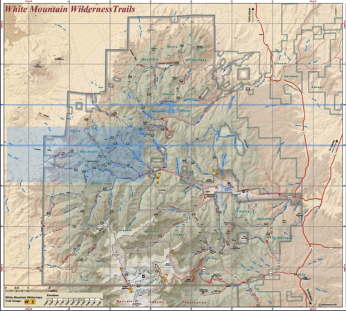 GPS Devices: White Mountain Wilderness Trail Map — Bell Geographic