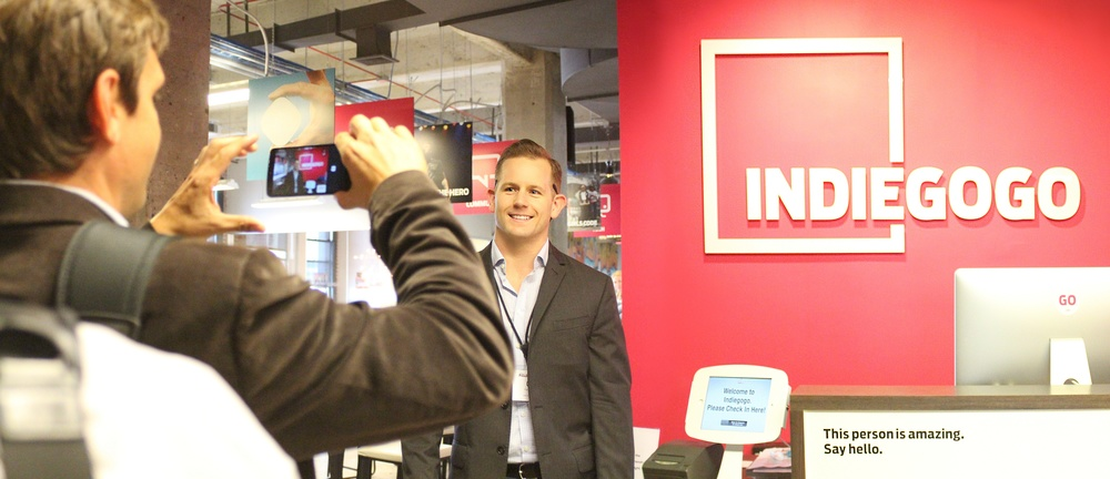 Cal Hamilton of NRG Energy at Indiegogo Headquarters