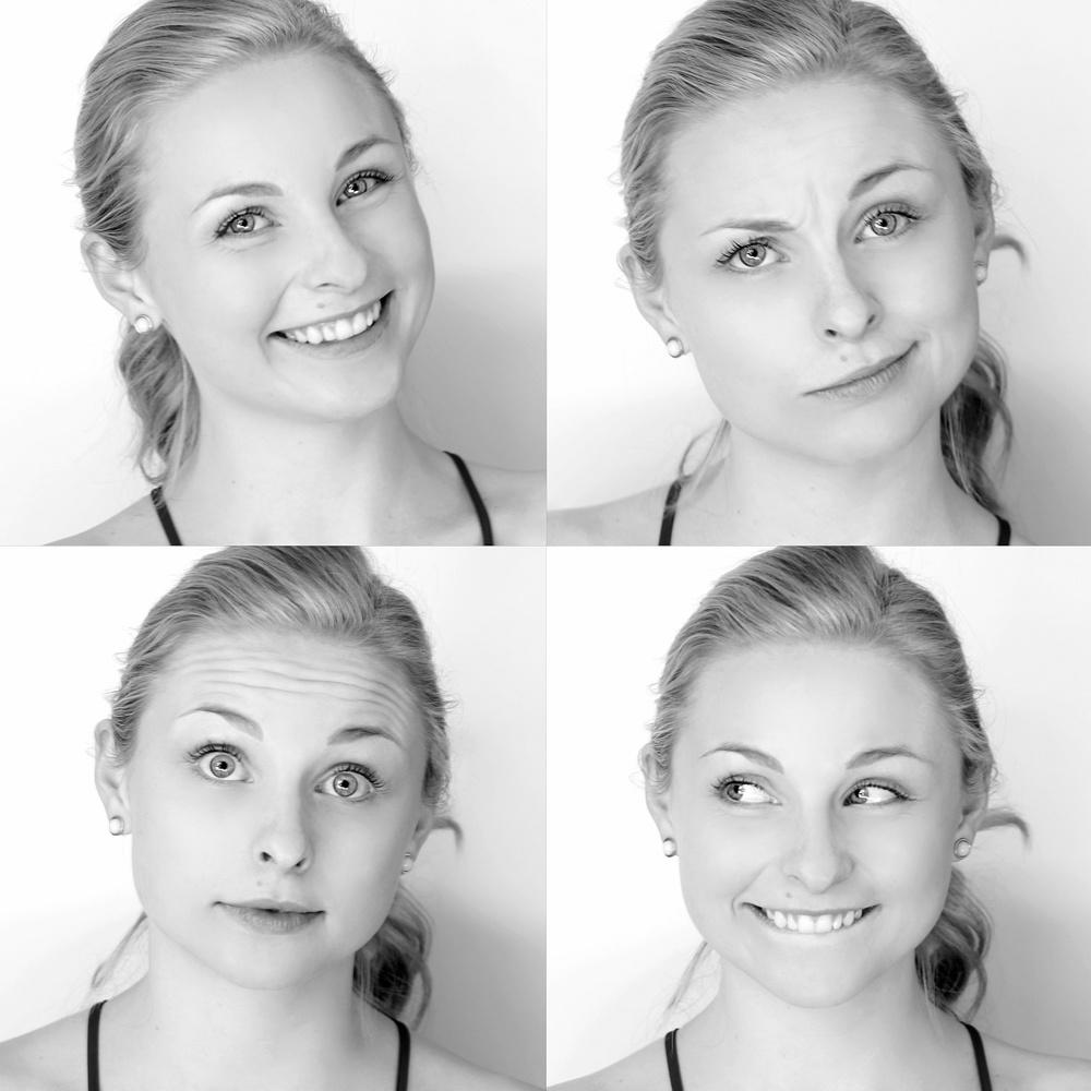The many faces of   Shelby Wulfert  by Breanna Baker