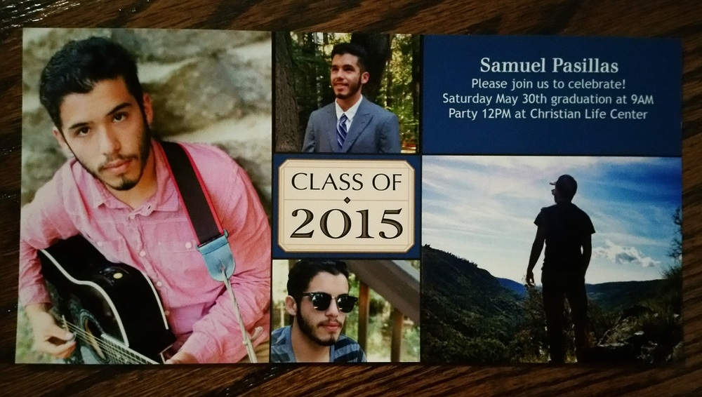 Some photos from our session on Sam's graduation invitation
