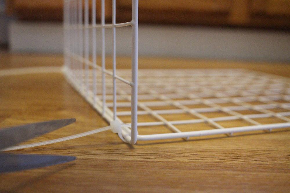 Zip Tying Wire Shelves.JPG