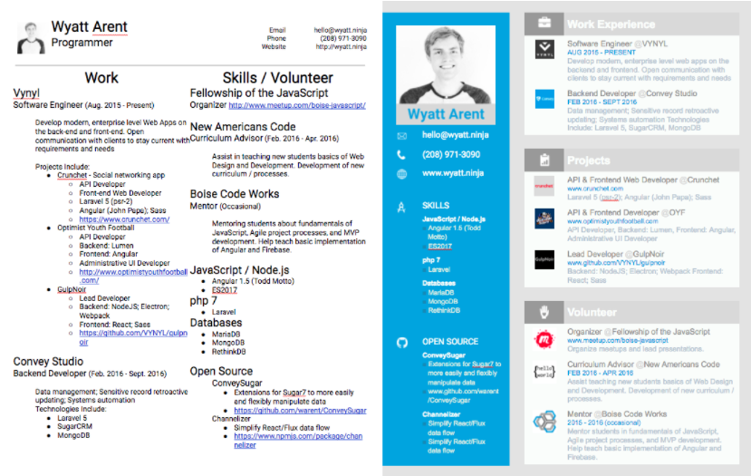 Stand out as a professional... - Before & After - Which resume do you think helped land an interview with Google?