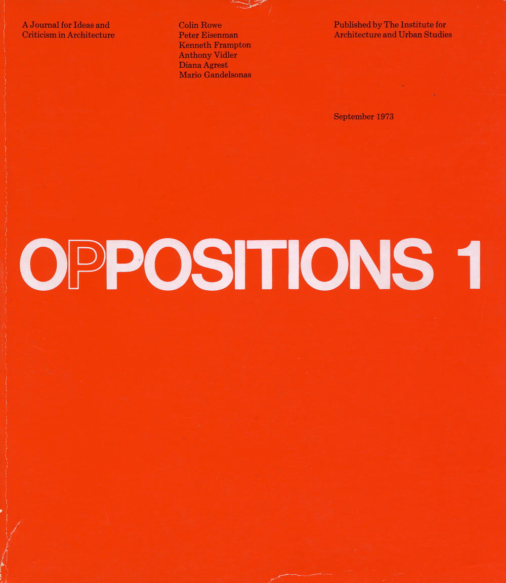 Oppositions Journal 1