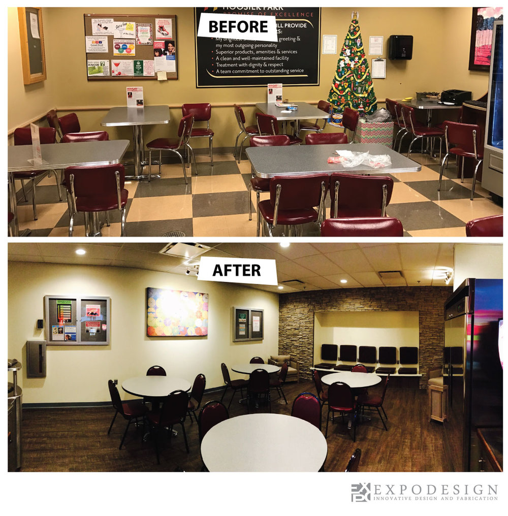 Hoosier Park Break Room design