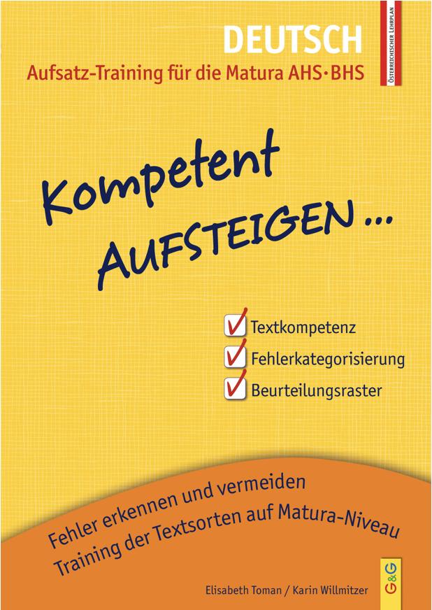 Kompetent Aufsteigen - Deutsch 8 - Aufsatz-Training für die Matura