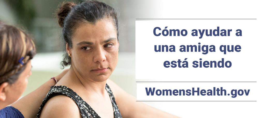 Octubre es un mes dedicado a promover la conciencia de violencia doméstica.Crédito de foto:www.womenshealth.gov