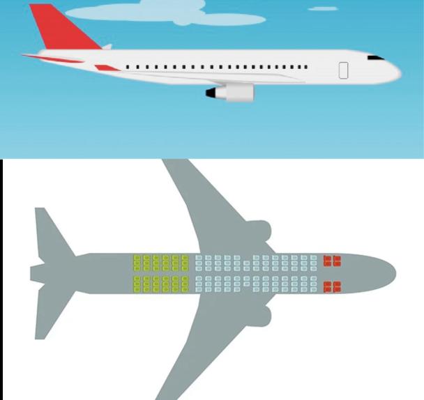 Mejores asientos en un avión