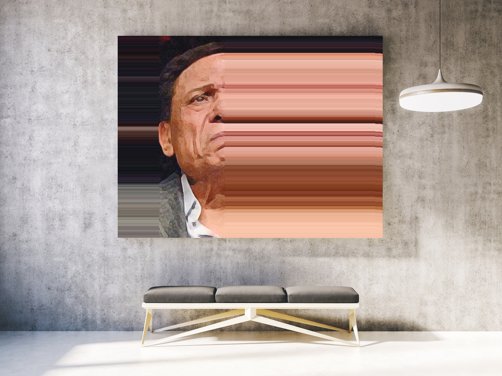 Adel Imam  Limited Edition Giclee Print. 6' X 4'. 2015.