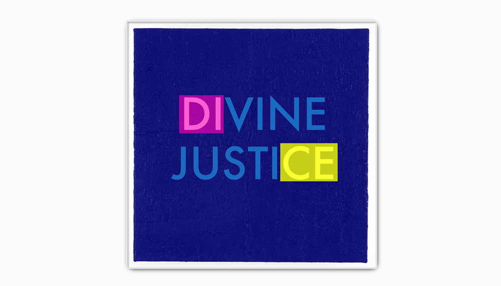 Divine Justice.  Acrylic on canvas. 4' X 4'. 2015.