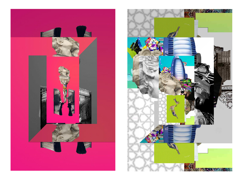 MENAPOP Collage 3 & 4.  Limited Edition Giclee Print. 3' X 5'. 2015.