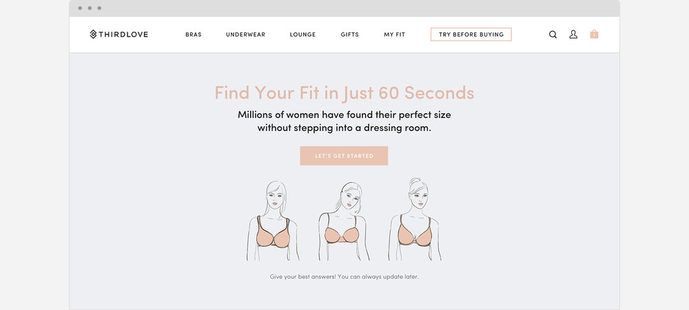 c703083351999 ThirdLove Fit Finder® — Erin Lucarelli — Digital Product Designer