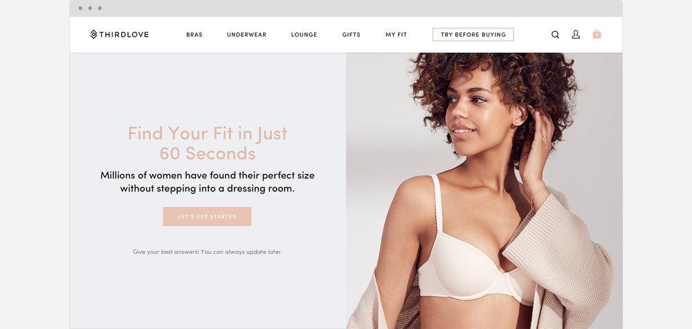 35f3fc0b52 ThirdLove Fit Finder® — Erin Lucarelli — Digital Product Designer