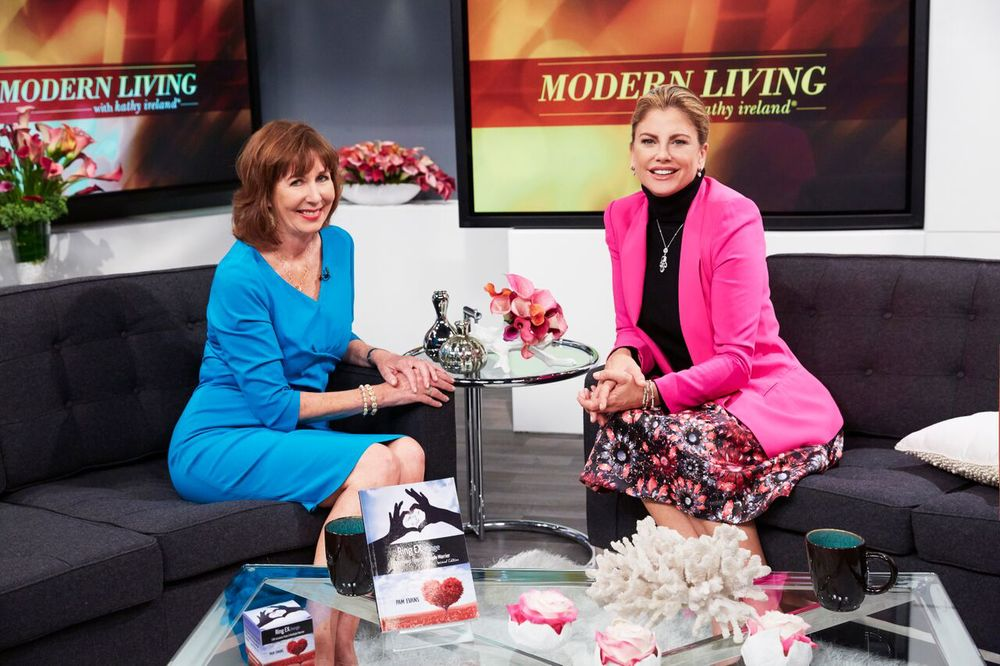 Appearing on the set of Modern Living with kathy ireland®