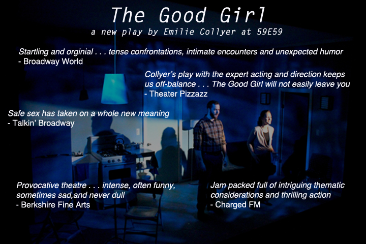 Leah Gabriel and Giacomo Baessato in The Good Girl at 59E59 Theaters