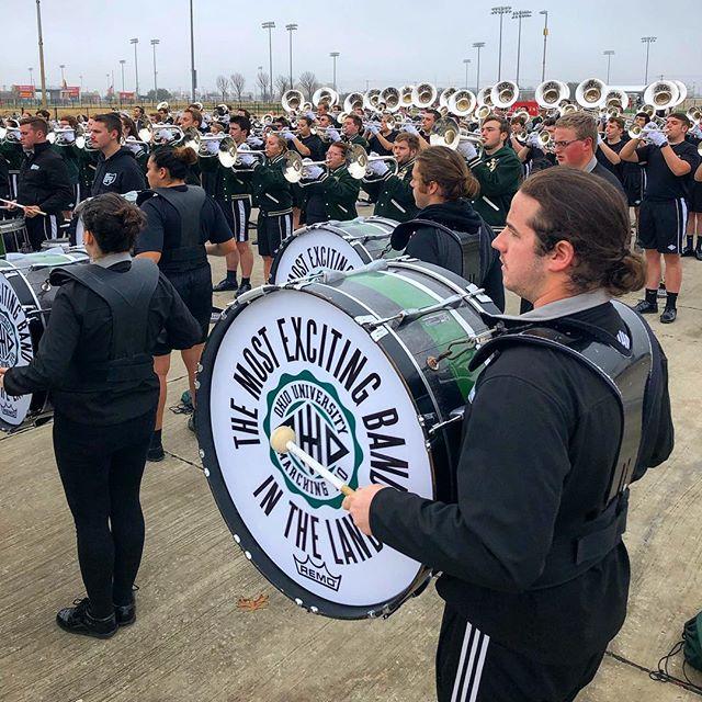 Warm up. . . . #Marching110 #OUohYeah #Bobcats #AthensOhio #Athens #Ohio #OhioU #OhioUniversity #45701  #IgersOhio #110 #CollegeMarching #HIO #GetThere #MostExctingBandInTheLand #Band #MarchingBand #Capture_Ohio #Music #OnlyInOhio #JJ_Ohio #One_Ohio #NickBolin Photo By: @Nick.Bolin ©Nick Bolin www.NickBolin.com