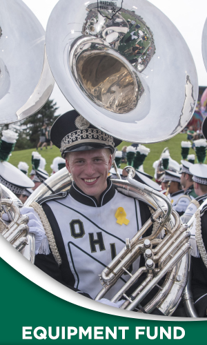 Do you know how much it costs to replace a tuba?   Make a gift to the Marching 110 Equipment Fund and help provide and maintain high quality instruments for the Marching 110.