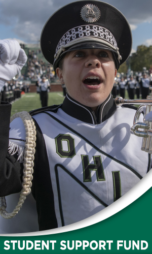 Did you know that students in the Marching 110 currently receive $0 in scholarships for being in the band?   Making a gift to the Marching 110 Student Support Fund will help the deserving students in the Marching 110.