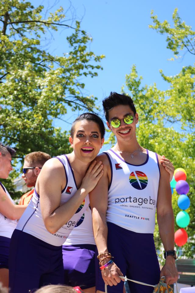 Michael Yakovich and Teddy Damiam participated in the Pride Parade on Sunday, June 24.