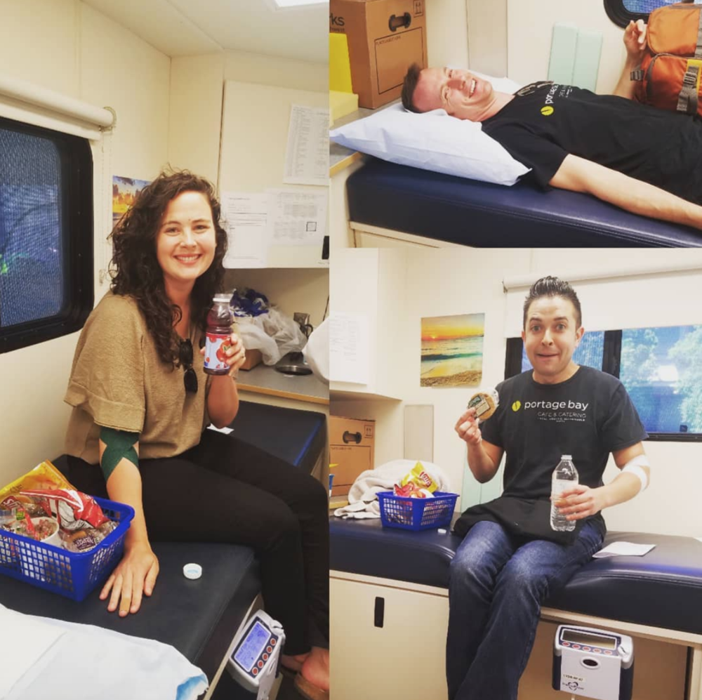 Our first PBC employee blood drive was a success! Thanks to all the staff who donated and to the fabulous team from Blood Works Northwest.