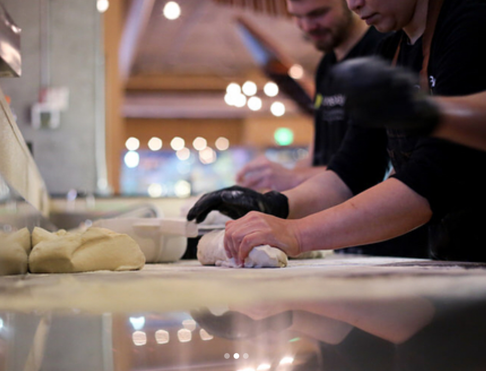 We make all our bread at the South Lake Union location. Read more  here .