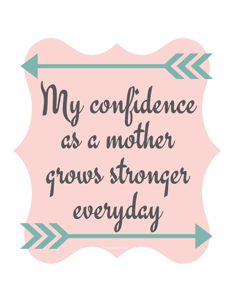 birth and new mom affirmations free printables tulsa family doulas
