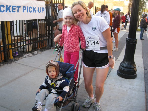 After Tulsa Run 2008 with little Chapman enjoying the exercise from inside my uterus.