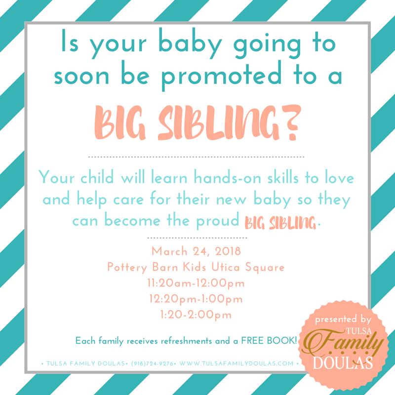 Free Sibling Class this Saturday — Tulsa Family Doulas