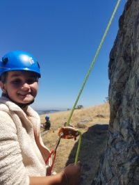 SYLVIE MAY is in 6th GRADE at MILL VALLEY MIDDLE SCHOOL.  SYLVIE's SPECIALTY IS TECHNICAL CLIMBING ON KNOBLESS CRAGS.