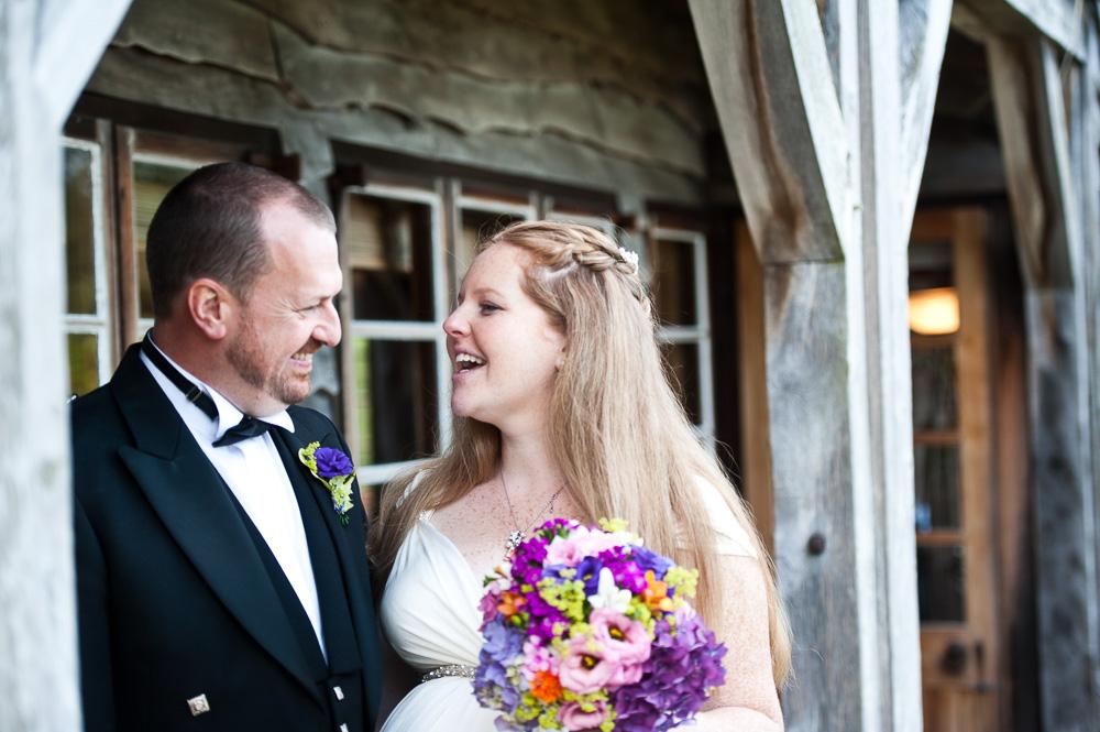 Big Wooden House Wedding Arran