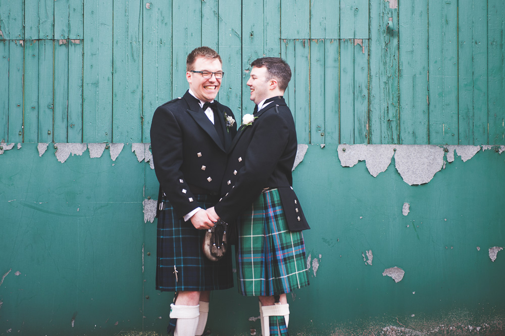 Grooms at Piping Centre Wedding Glasgow