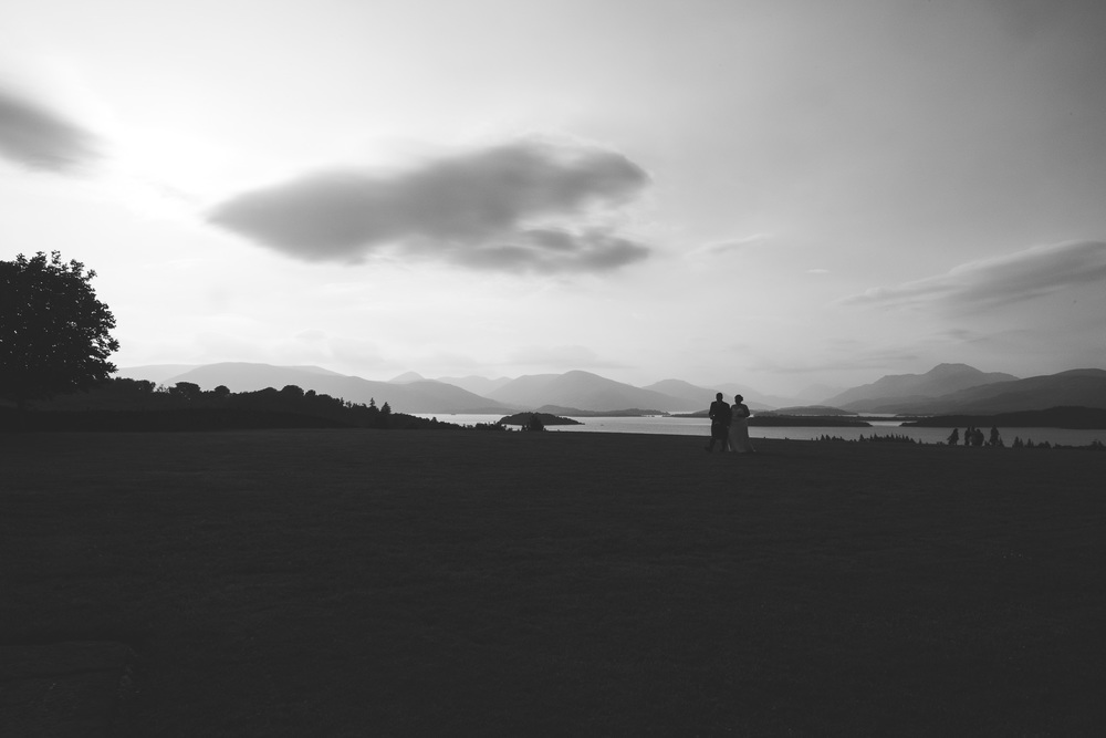 Bride and Groom at Ardoch Loch Lomond
