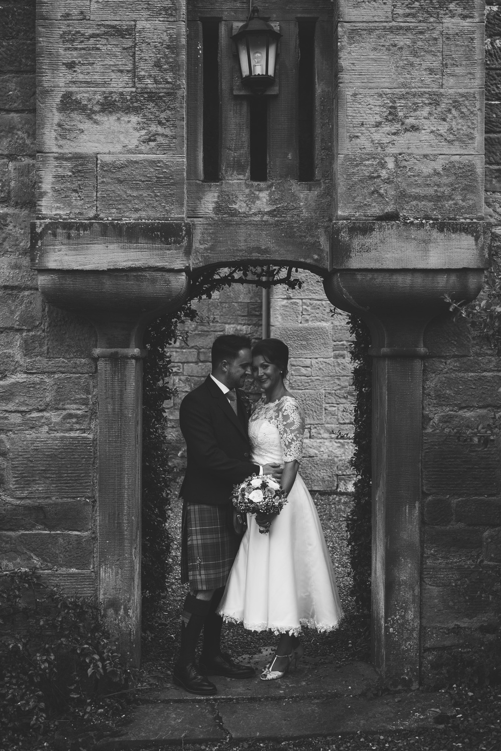 Kirknewton Stables Wedding Couple