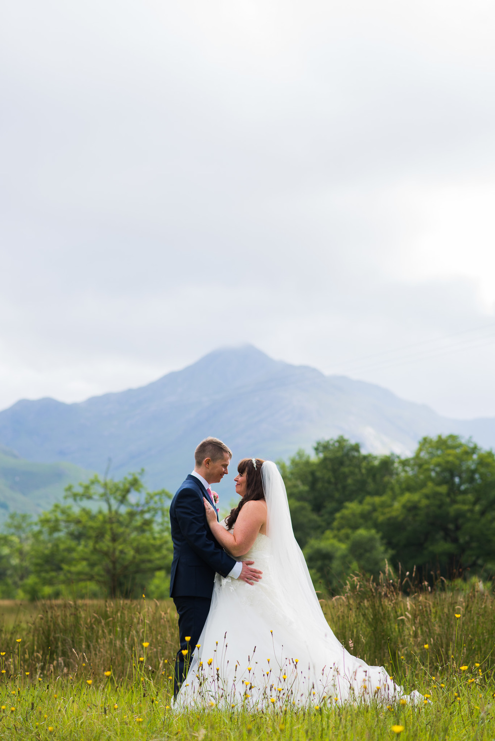 Wedding couple at Glenfinnan