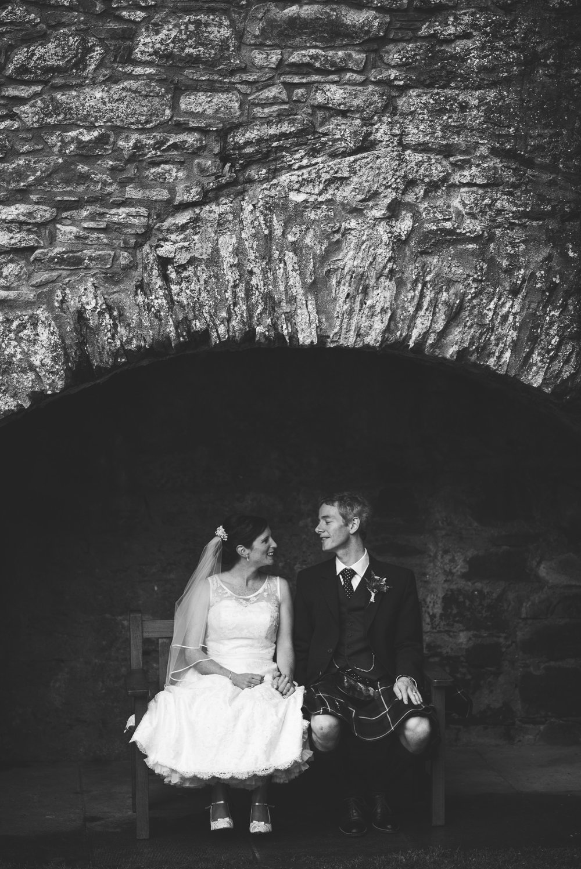Wedding Couple at Doune Castle