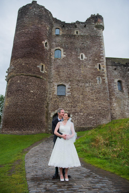 Doune Castle Scotland Wedding Couple